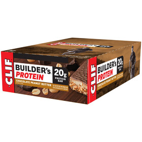 CLIF Bar Builder's Protein Bar Box 12x68g, Chocolate Peanut Butter